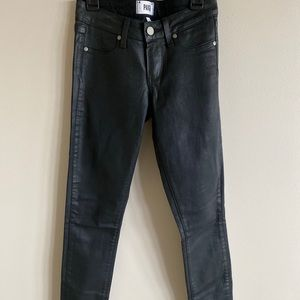 Paige jeans waxed luxe coating